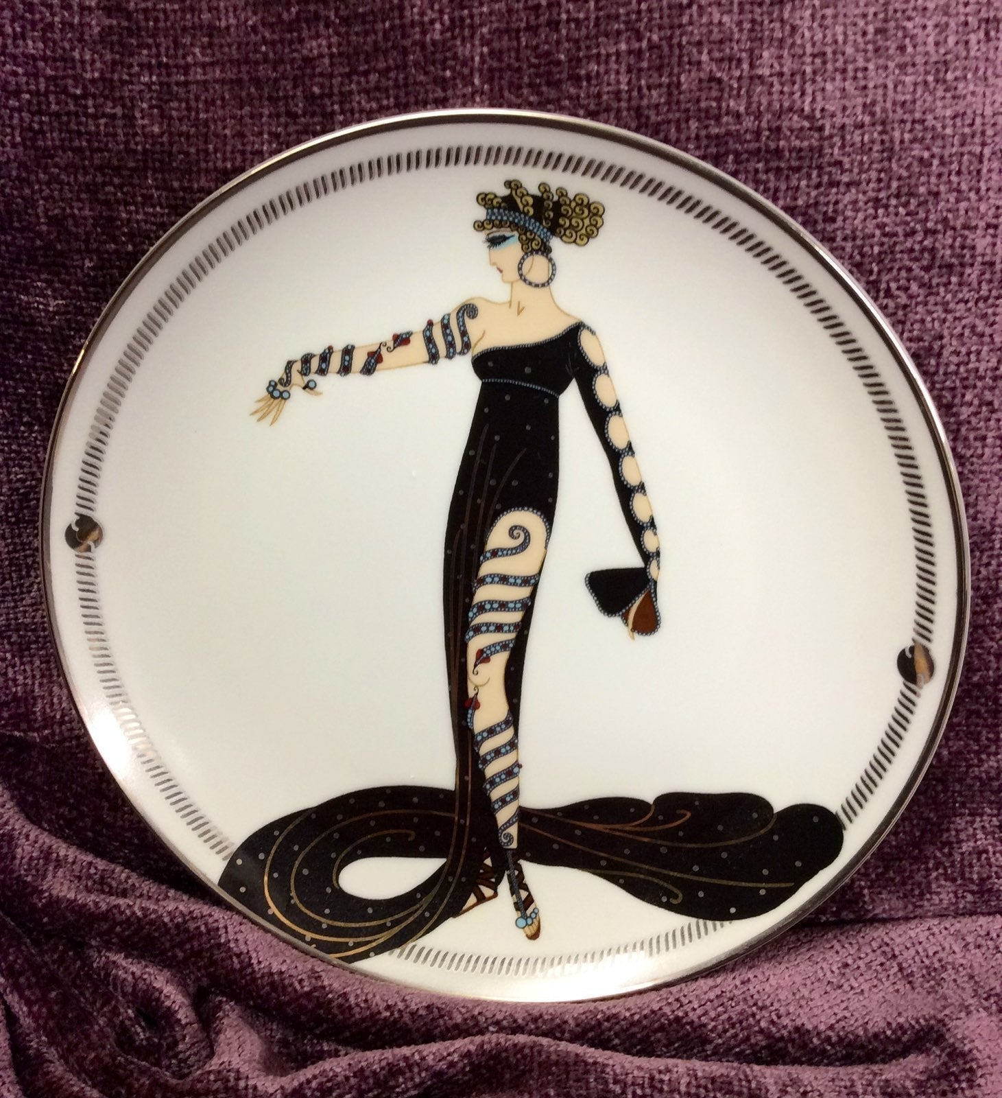 franklin mint , House of Erte plate