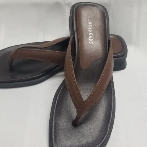 Sz 9M Ladies Crossroads Leather Sandals