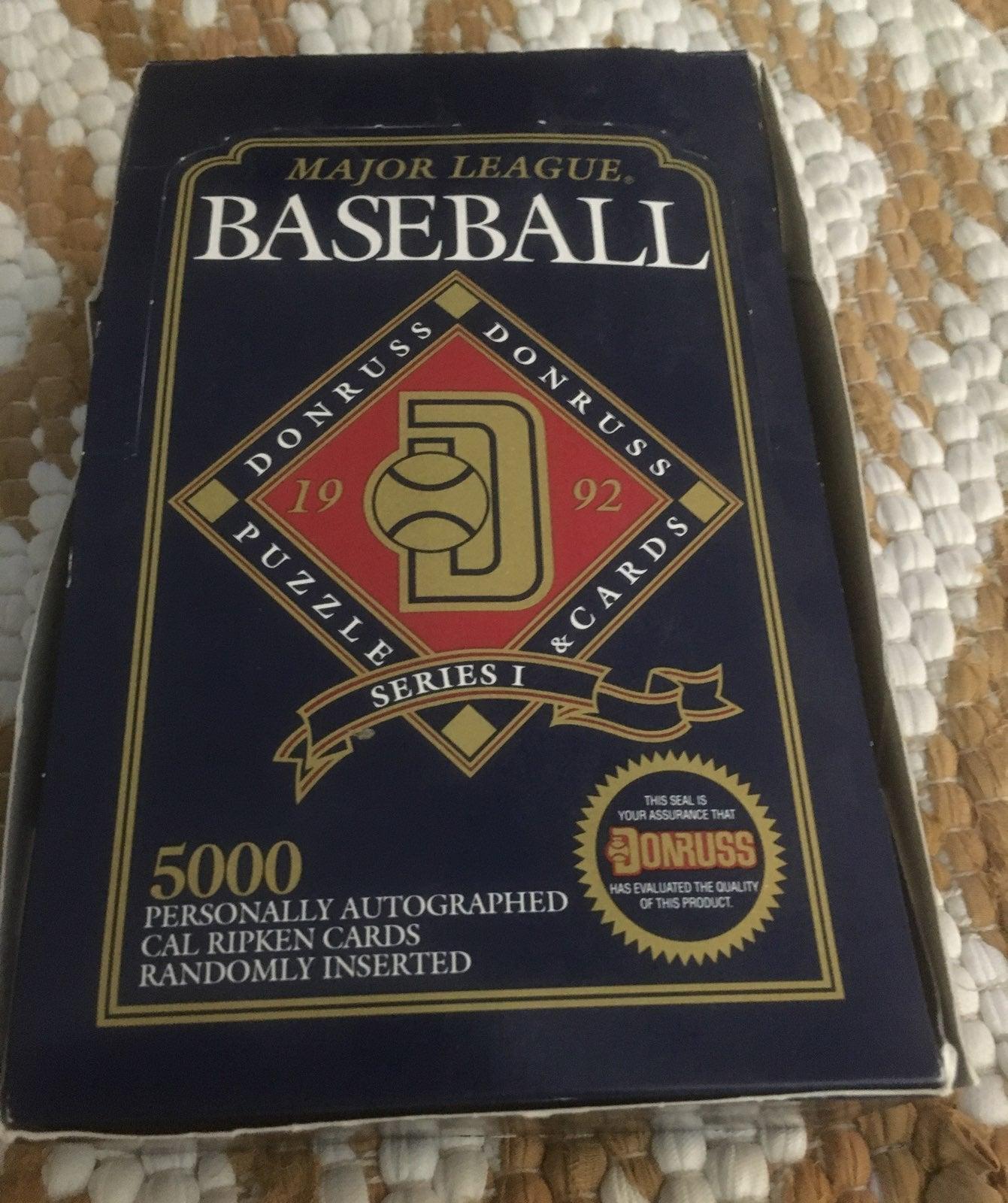 1992 Donruss Baseball Card Packs
