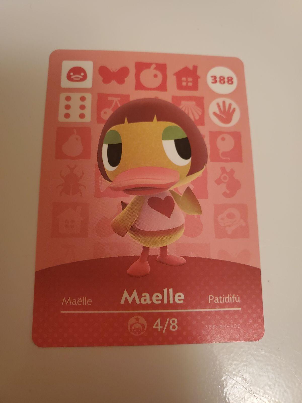 Animal Crossing Amiibo Card Maelle