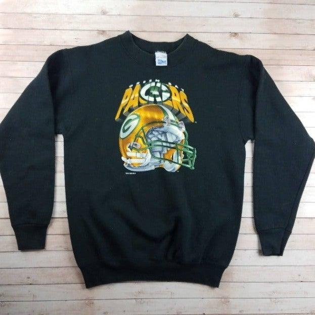 VTG 1990s GB Packers Helmet Sweatshirt