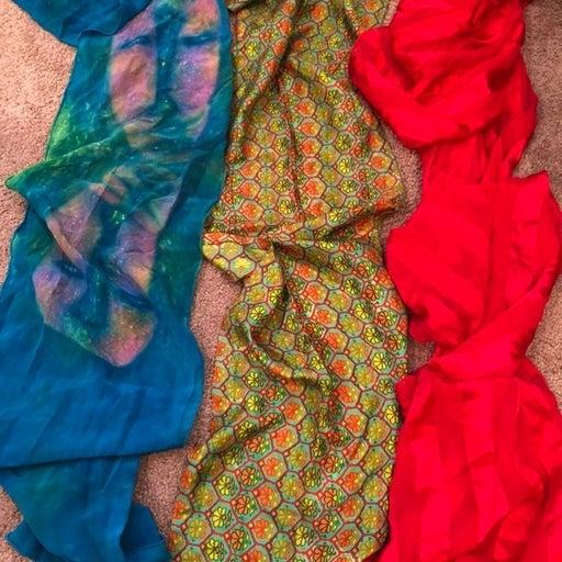 2 FREE!! BOGO!! Vintage Silk Scarf Bundl