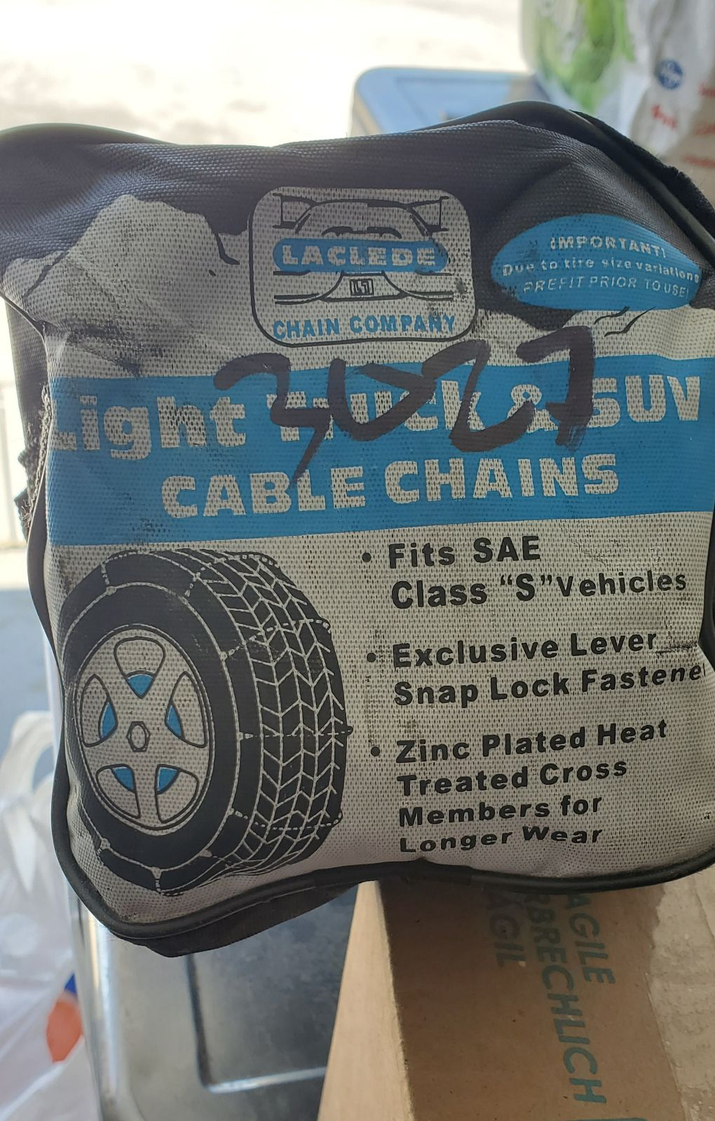 Tire Cable Chains for Snow Conditions