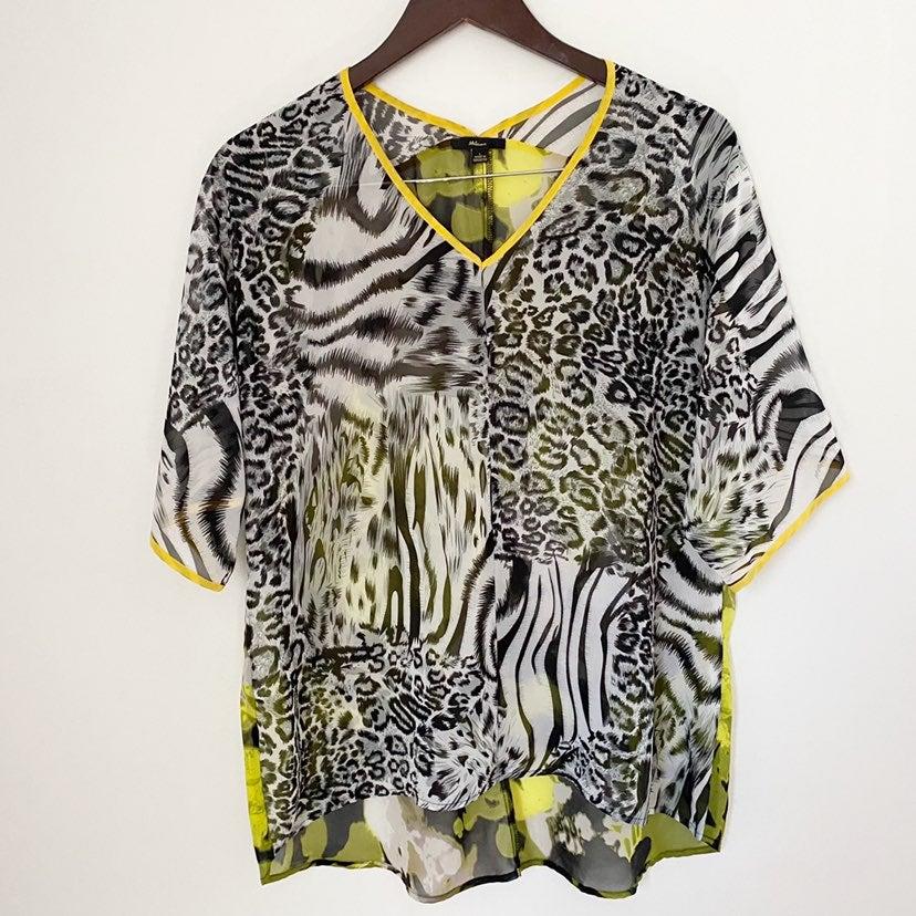 Milano Neon Zebra Print Hi-low Top