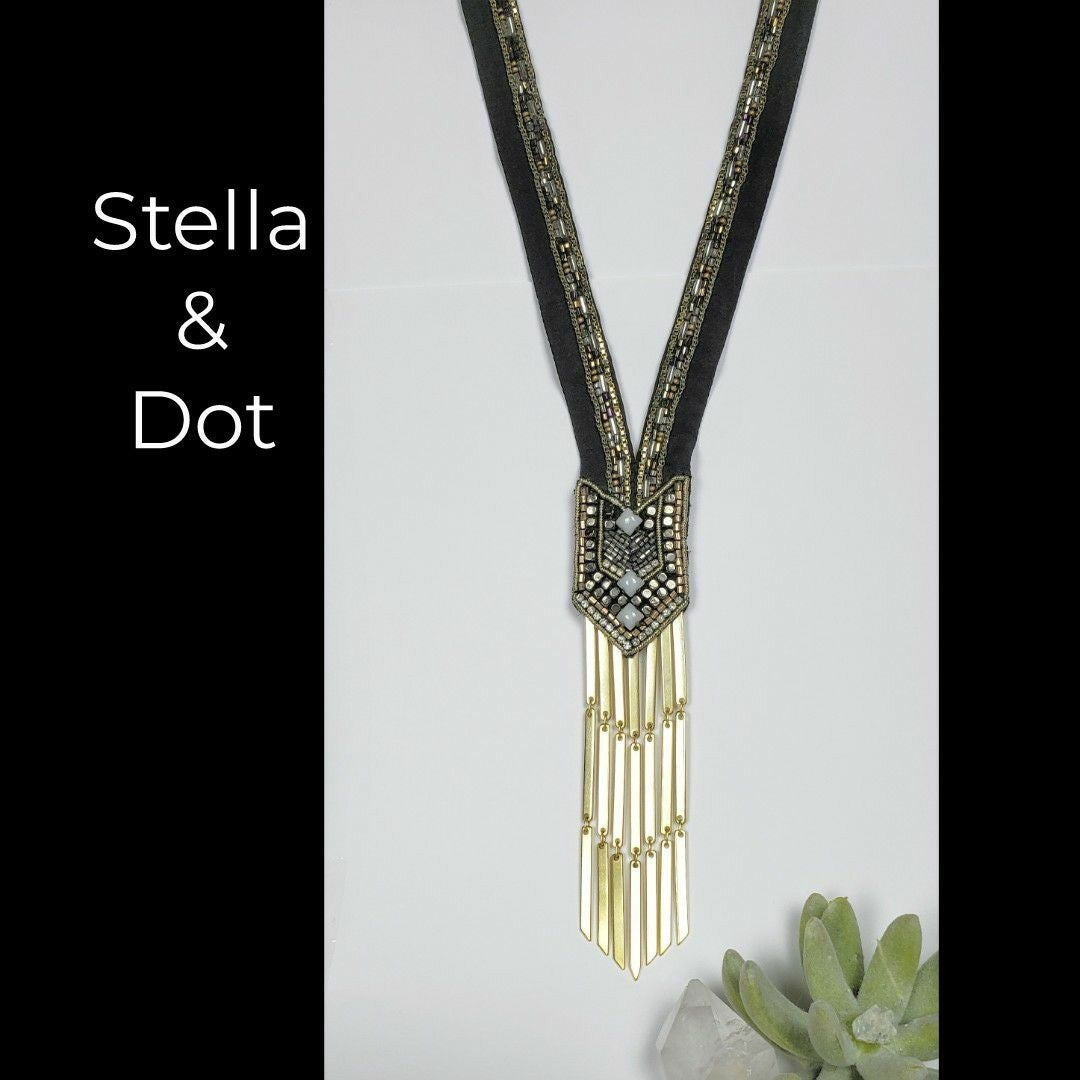 Stella & Dot Nile Necklace - Hand Beaded