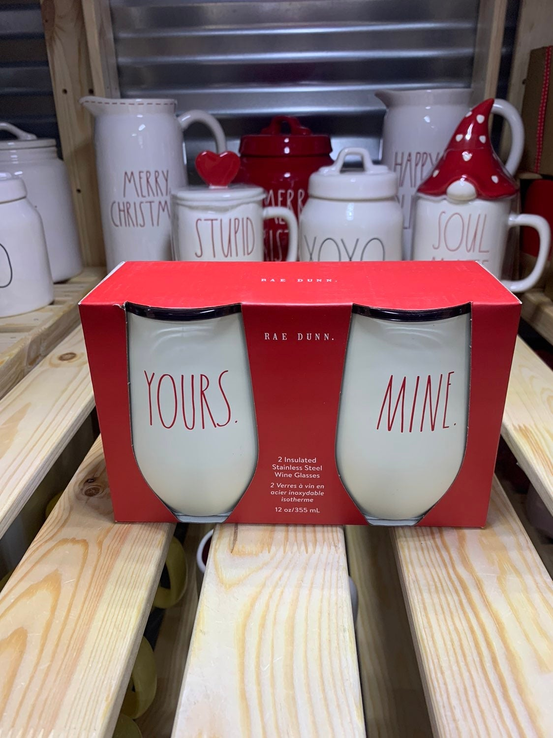 Rae Dunn Valentines Insulated Wine Mugs