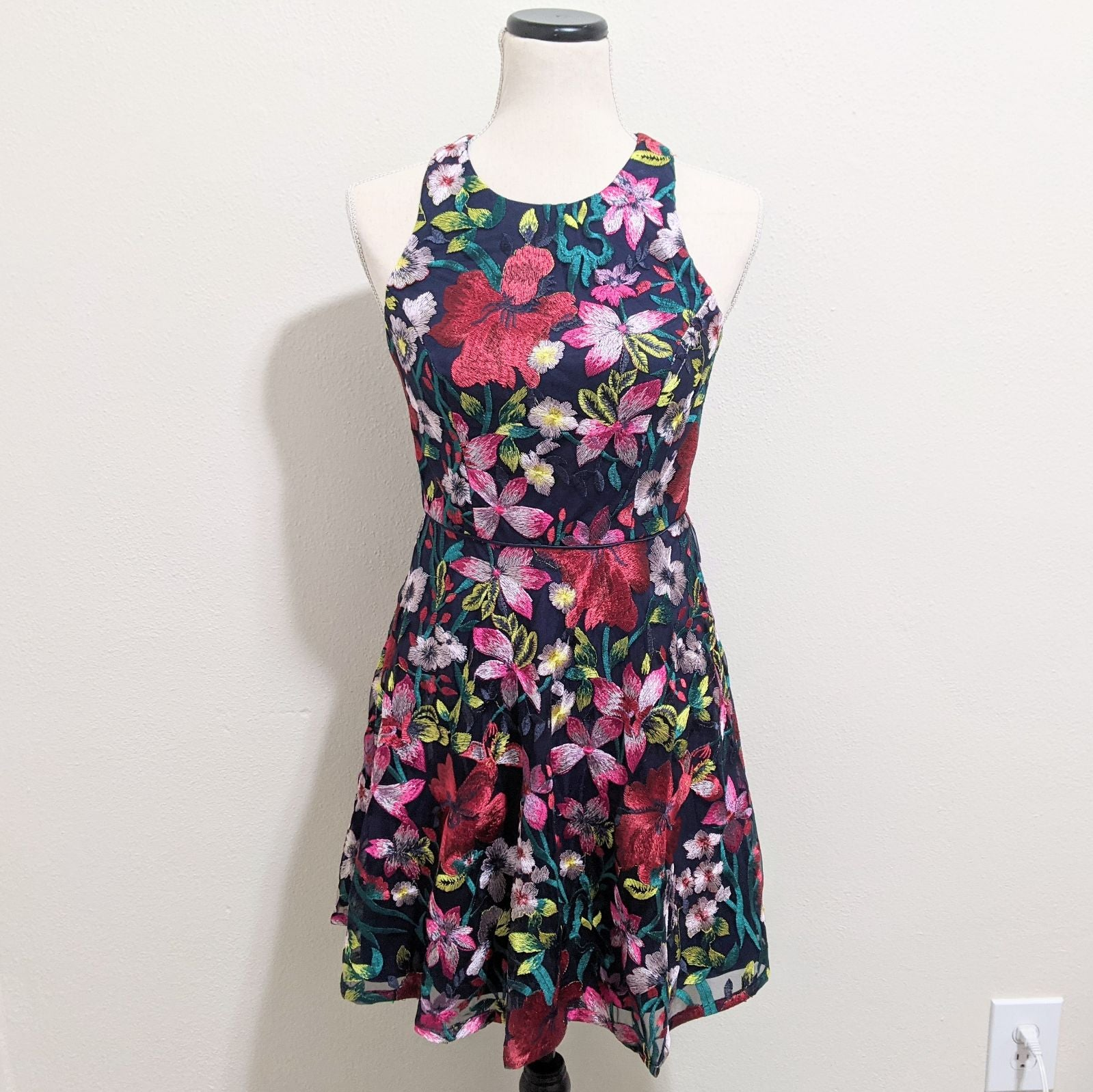 Gianni Bini Floral Embroidered Dress