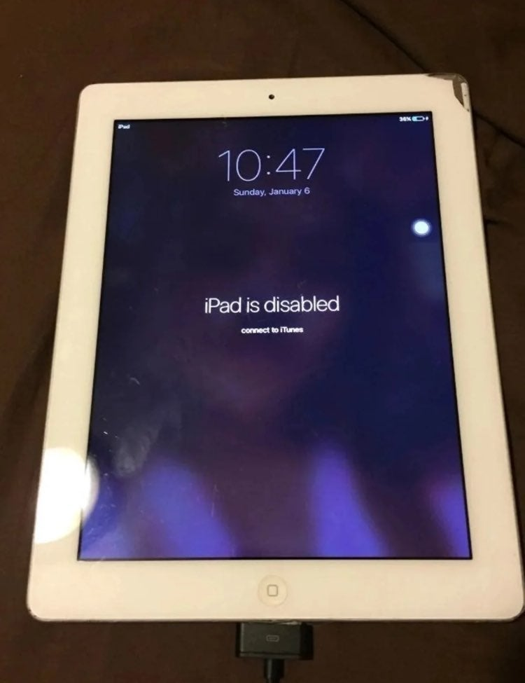 iPad Disabled iTunes iCloud Unknown