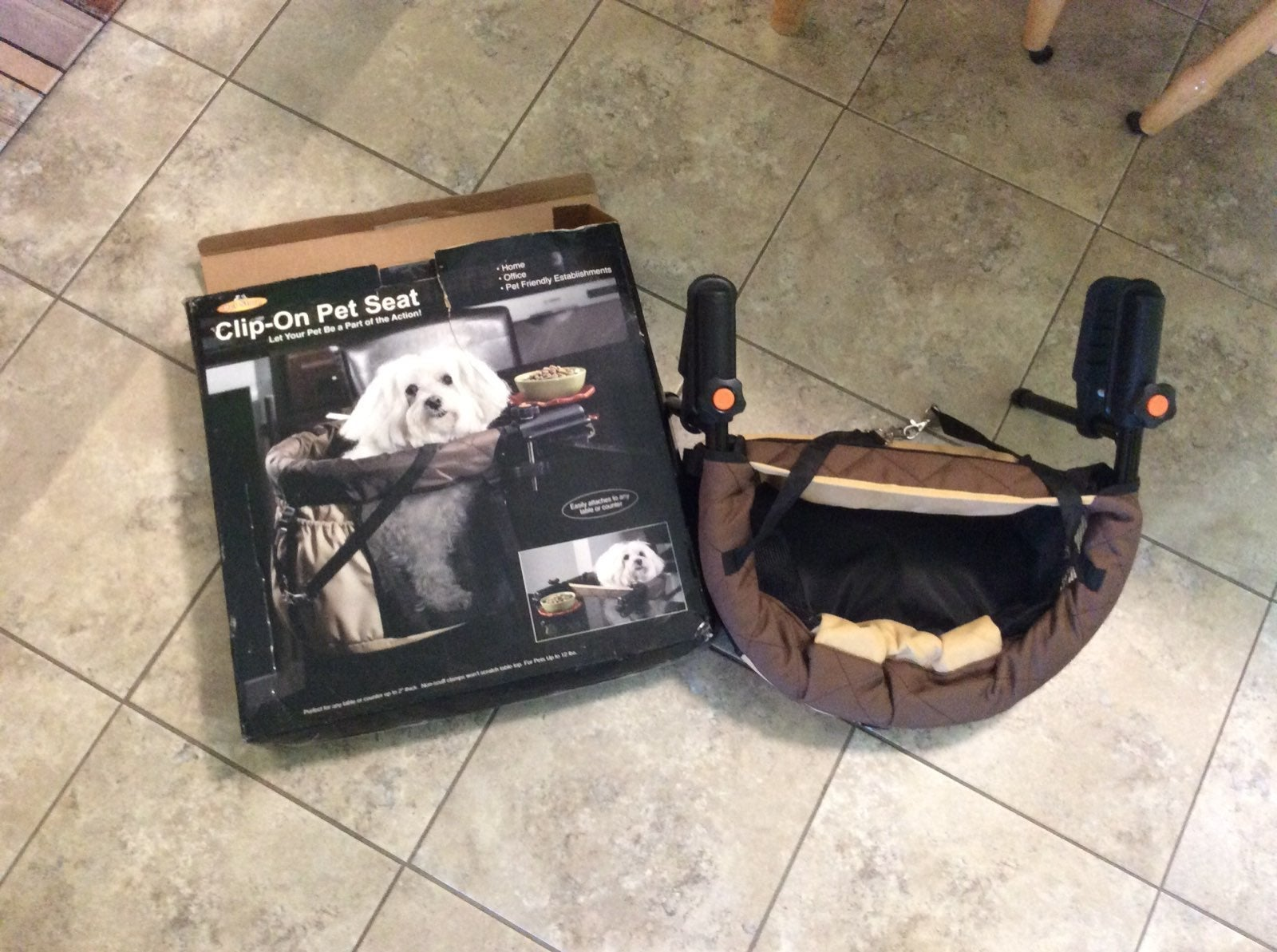 Clip on high chair pet seat