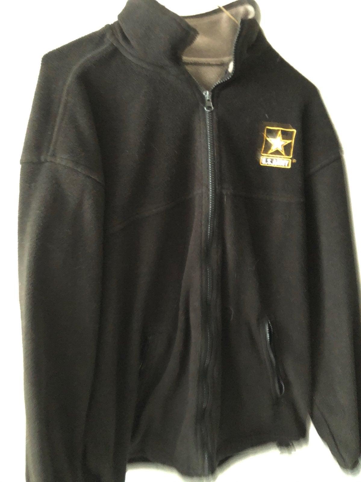Men's Size Small US Army Black Fleece