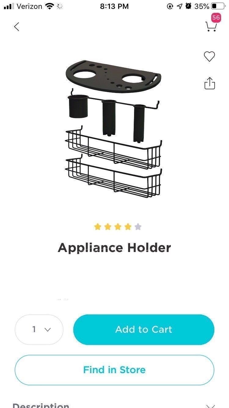 Trolley Appliance holder