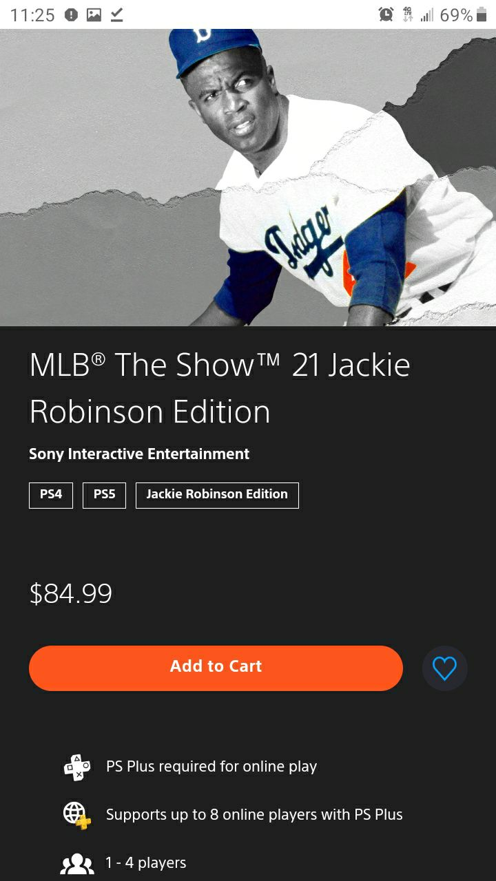 Ps4 mlb, the show, 21 Jackie Robinson nw
