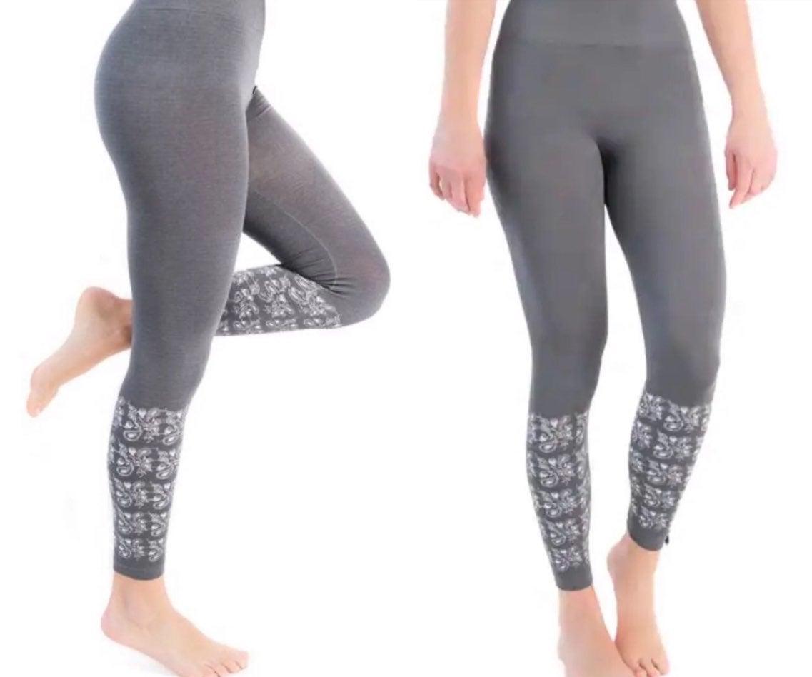 Muk Luks Paisley Charcoal Leggings