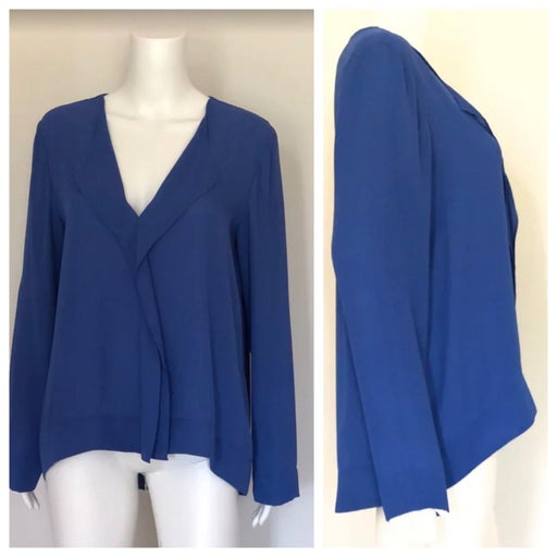 Cremieux Cobalt Blue Vneck Tunic M