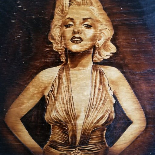 Marilyn Monroe Wood Art
