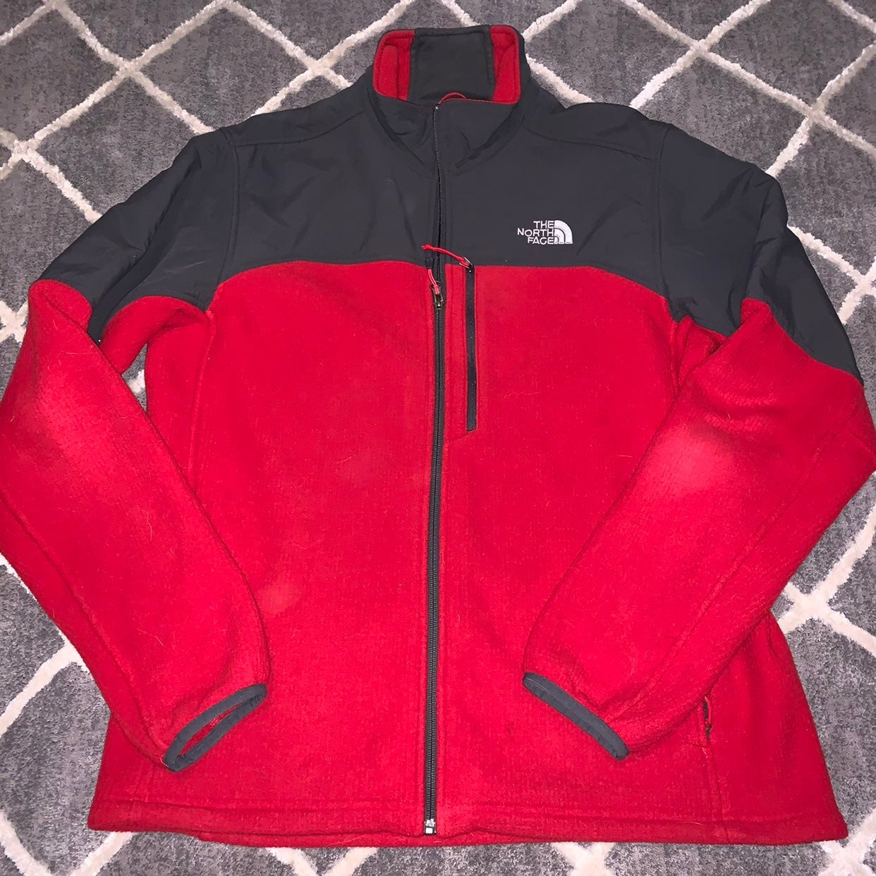 The North Face Fleece  Red & Grey