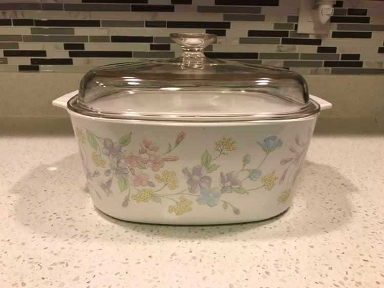 CorningWare Pastel Bouquet Dutch Oven