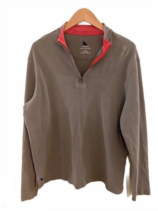 UNTUCKIT Quarter Zip Cotton Pullover