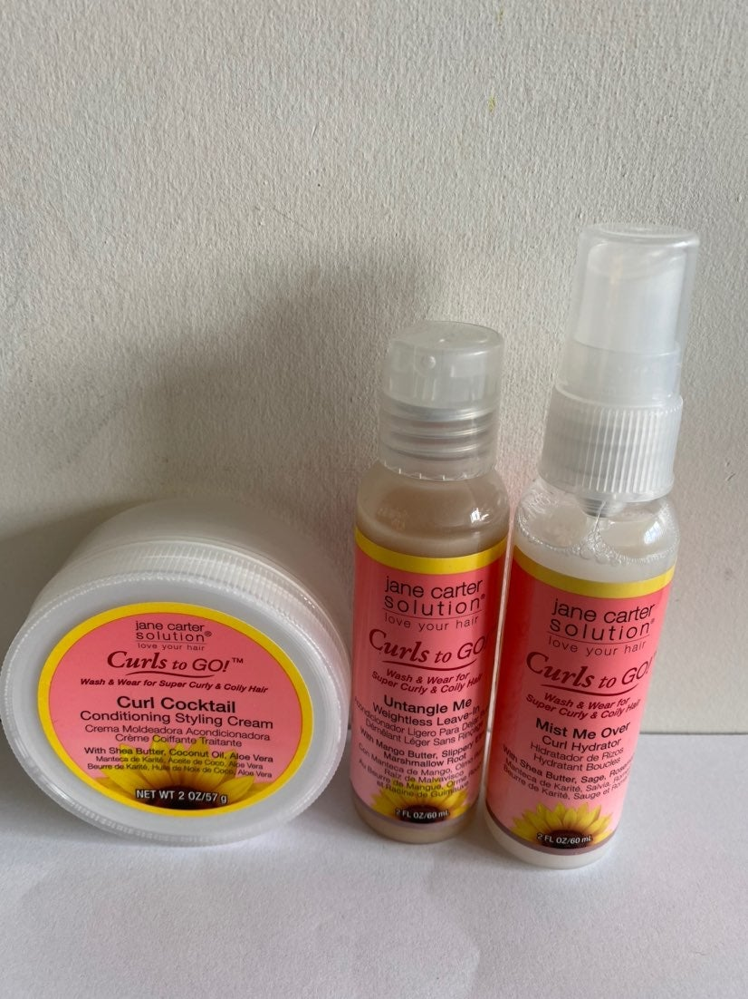 Jane carter curls to go 3pcs travel size