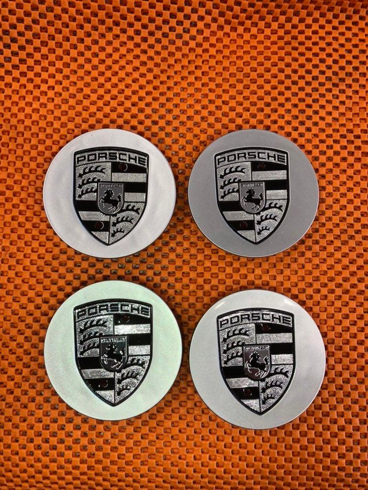 4 center cap silver Porsche 76 mm new