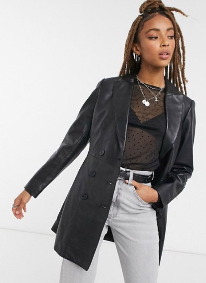 MARC New York Leather coat jacket blazer