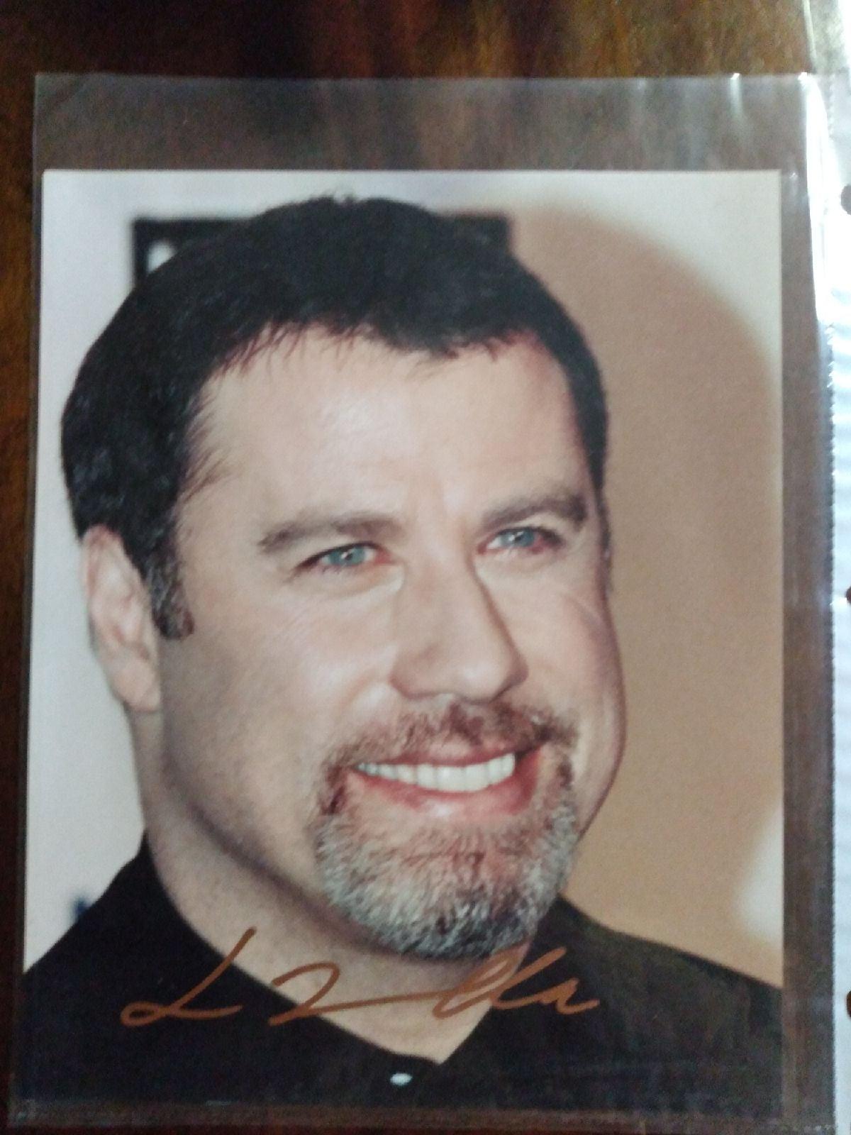 John Travolta picture with signature COA