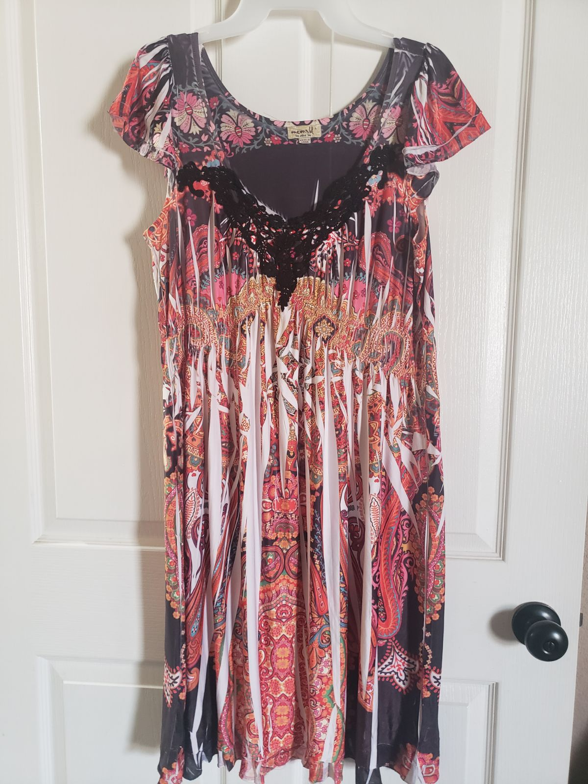 One world floral stretch dress size Larg