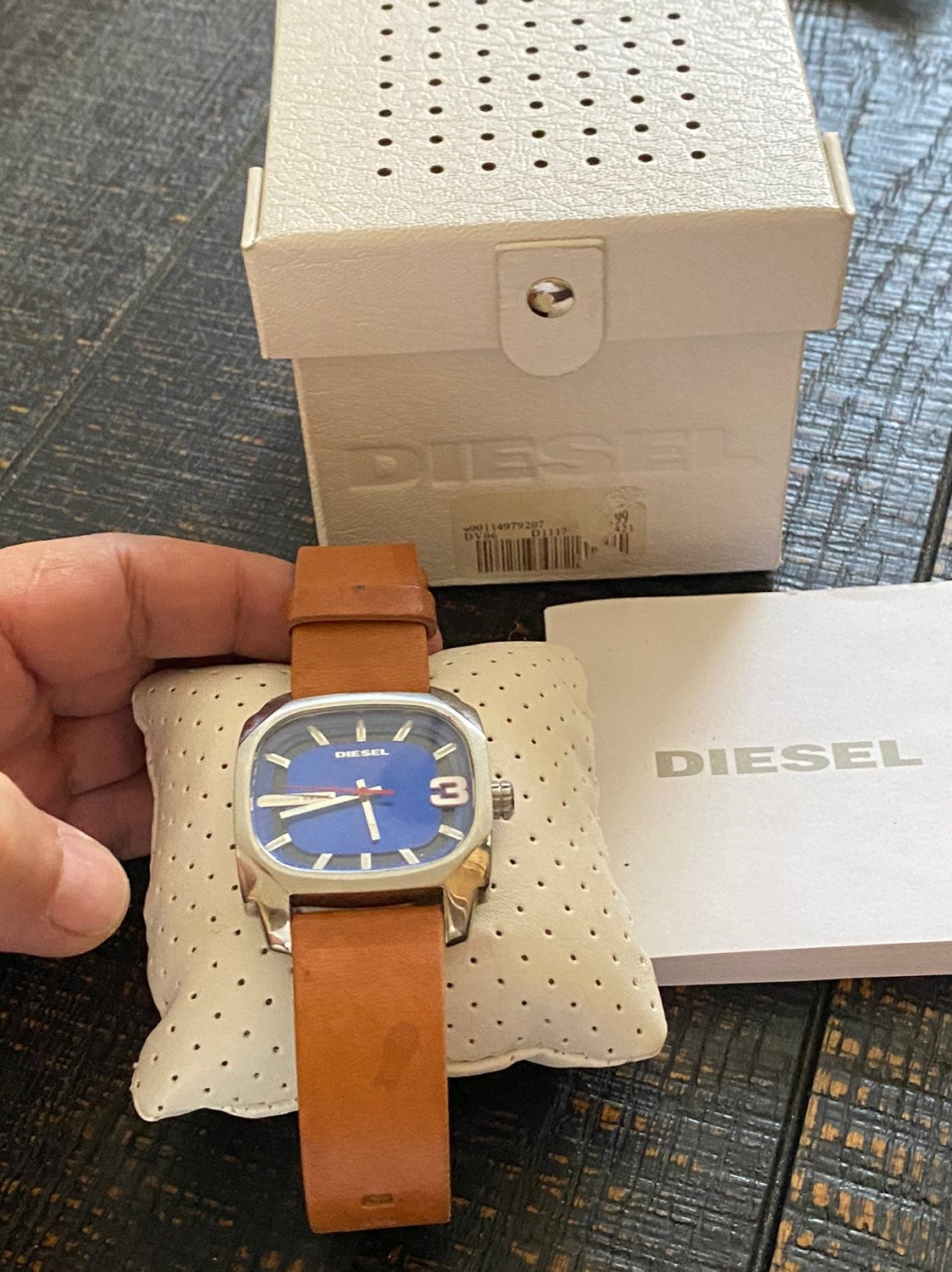 Diesel Watch Tan on Chrome and Blue face