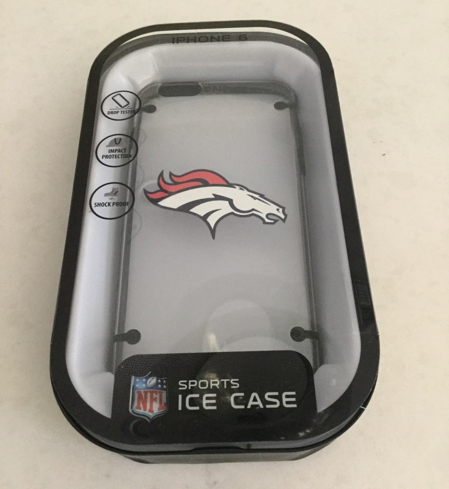 Denver Broncos iPhone 6 Case clear Ice