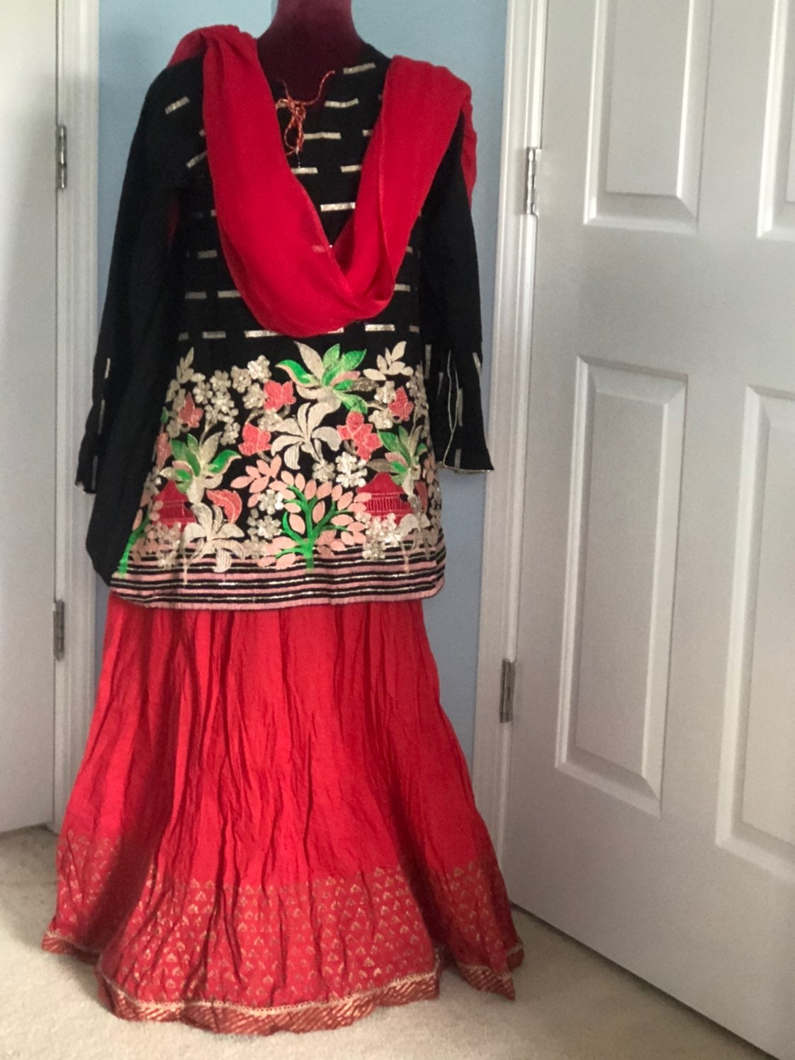 Pakistani/ indian three piece ghagra set