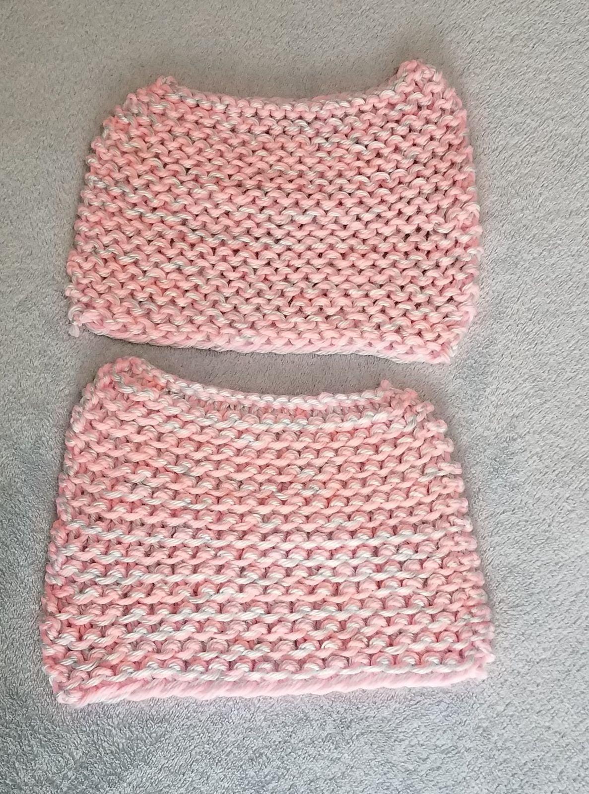 Handmade Dish Cloth Bundle Pink Blue