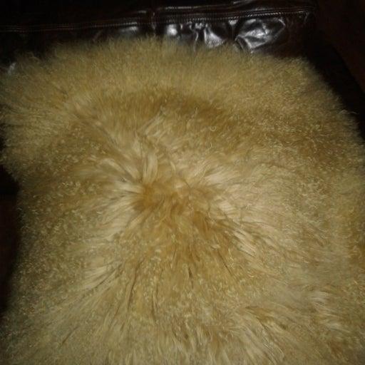 Mongolian Fur 21 x 21 euro pillow