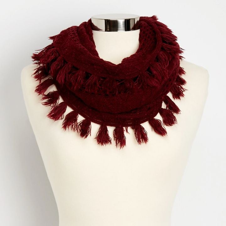 Maurices   Pointelle Knit infinity Scarf