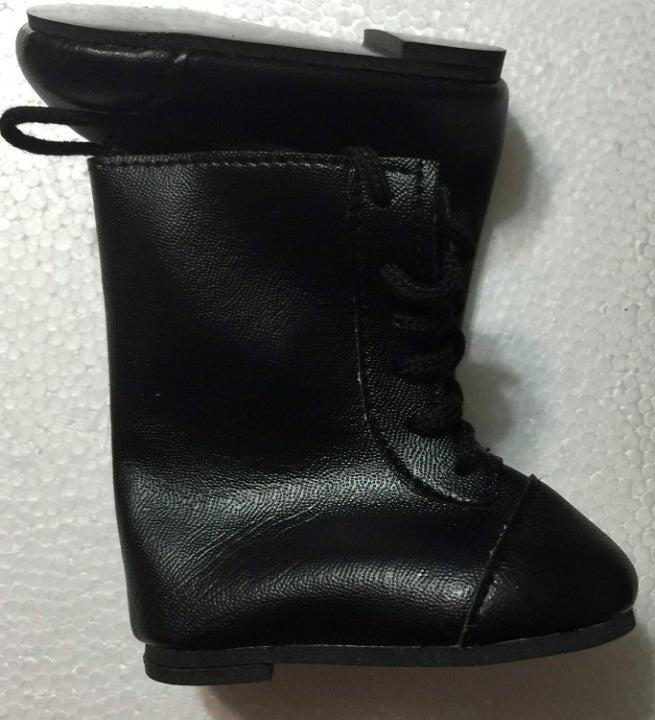 Monique Lace Up Doll Boots Black