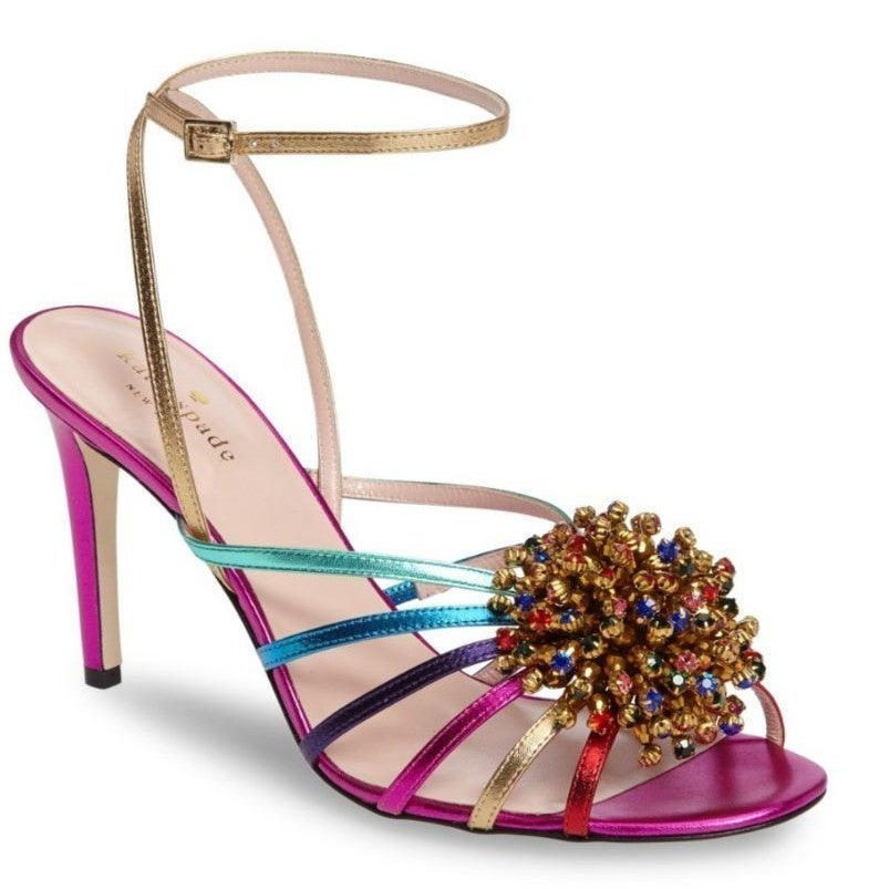 Kate Spade Isabella Pink Rainbow Sandals