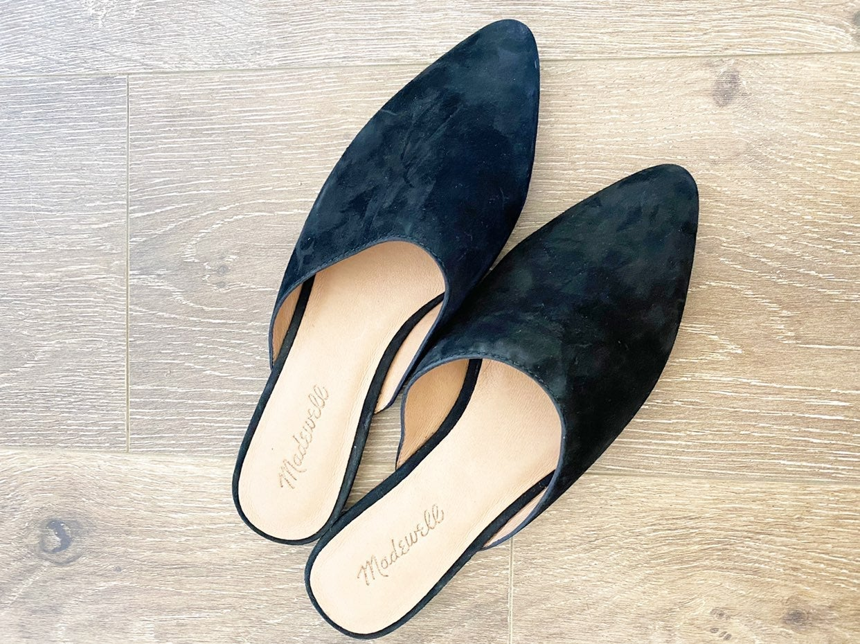 MADEWELL The Remi Black Suede Mule NIB