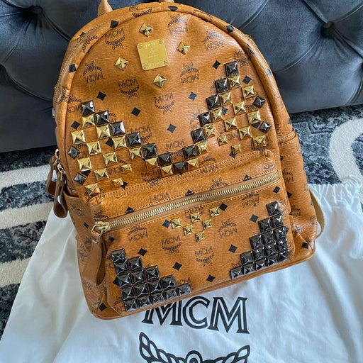 Authentic MCM Stud Backpack with dust bag