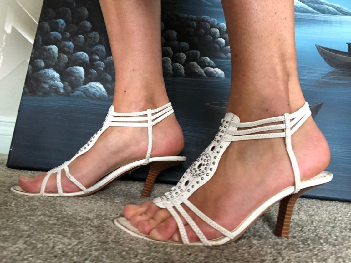 White Sandals with heels