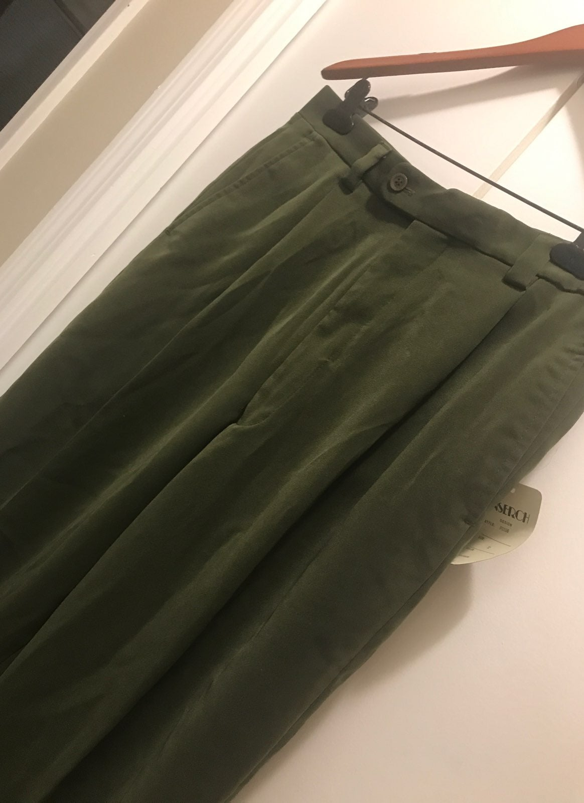 NWT Inserch Italy Olive Green Trousers