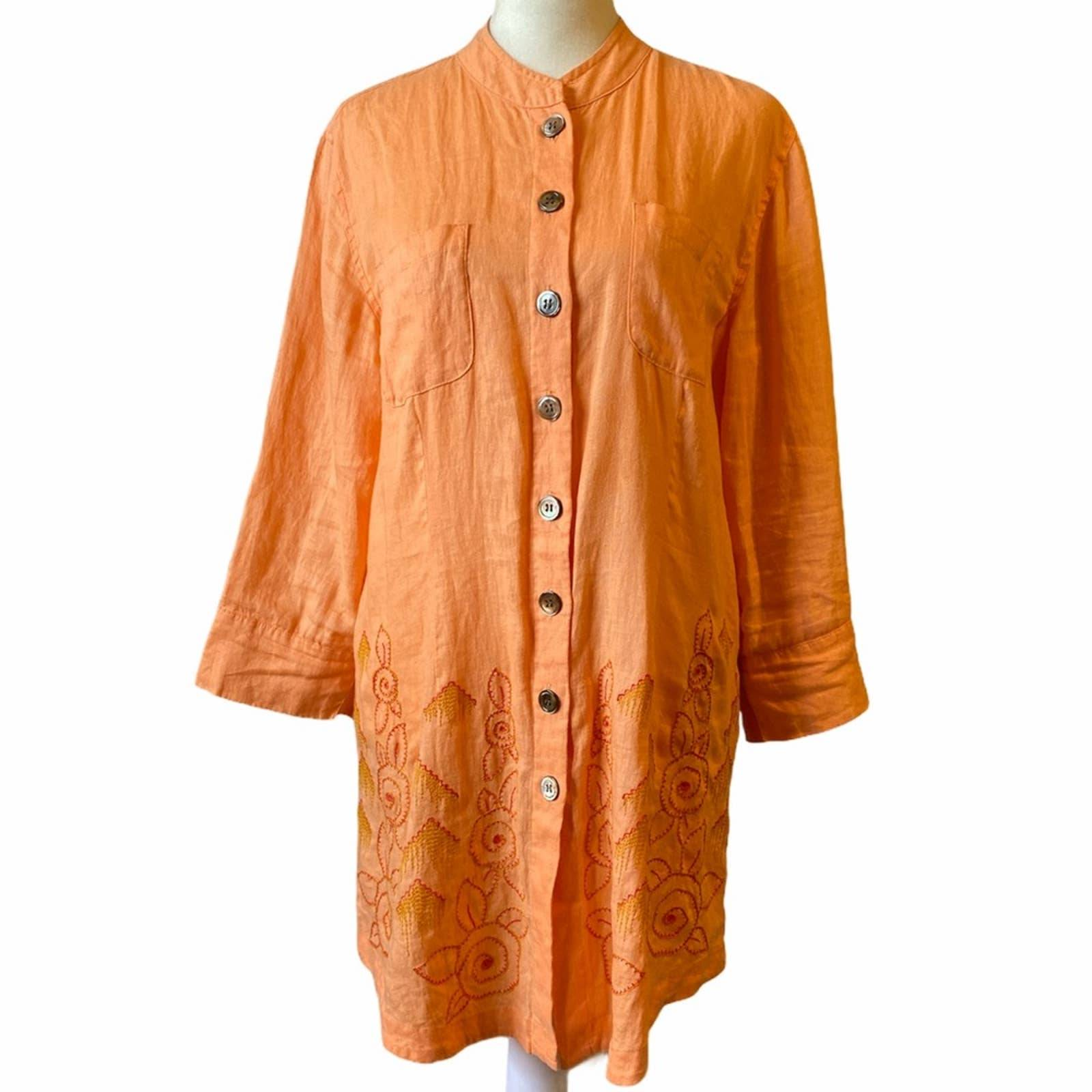J. Jill NWT Linen Embroidered Tunic S