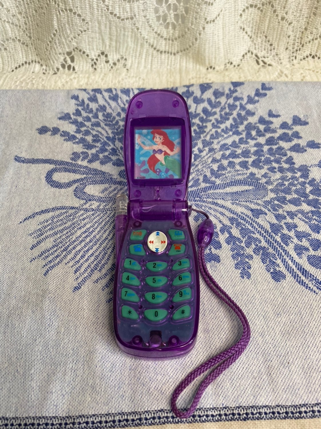 Toy phone- Disney Ariel- with sound