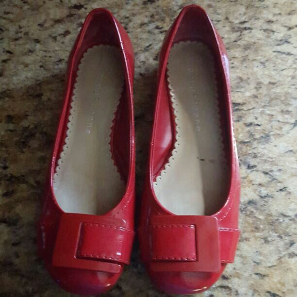 Red flats size 6.5