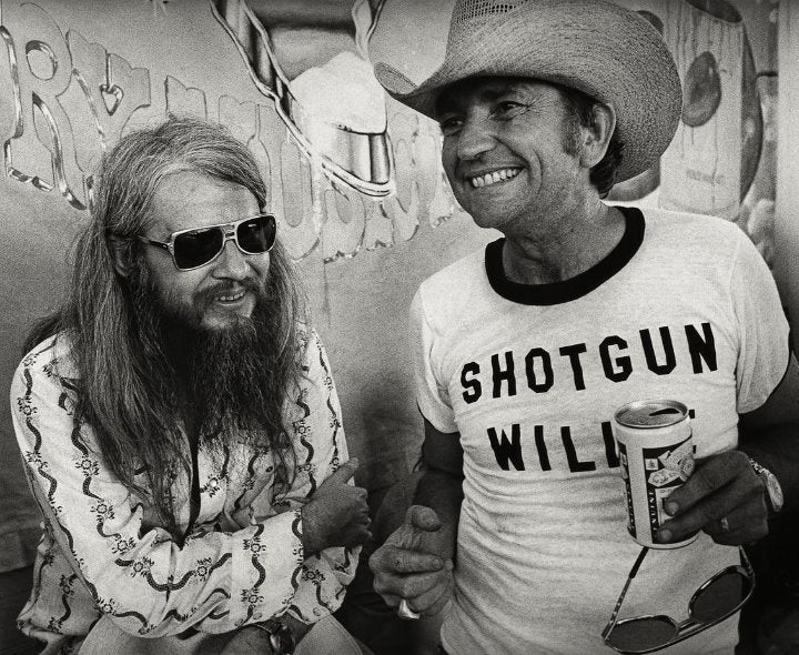 Willie Nelson Leon Russell 8x10 photo