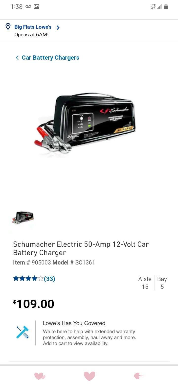 Schumacher battery car charger