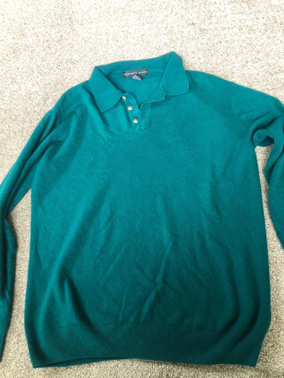 Mens button collar sweater