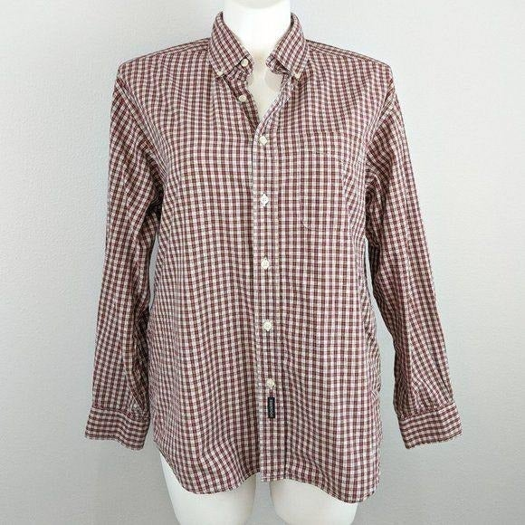 Dockers men's checked button down shirt