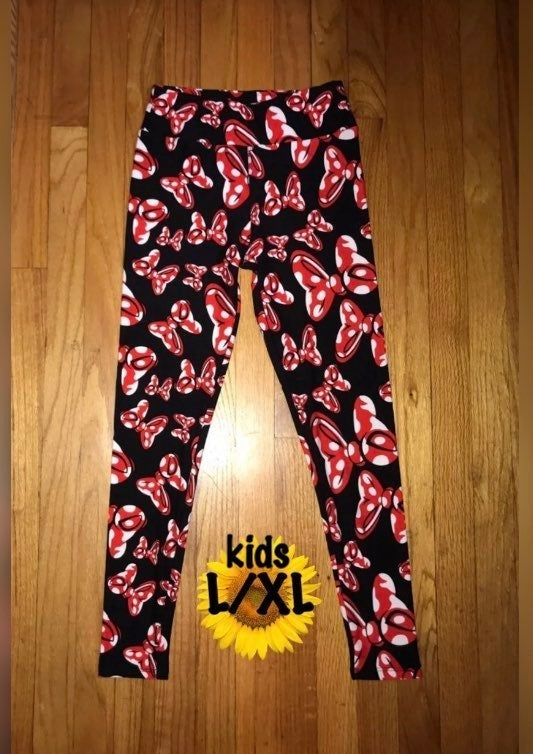 Disney Minnie Bows Kid L Leggings 6-10