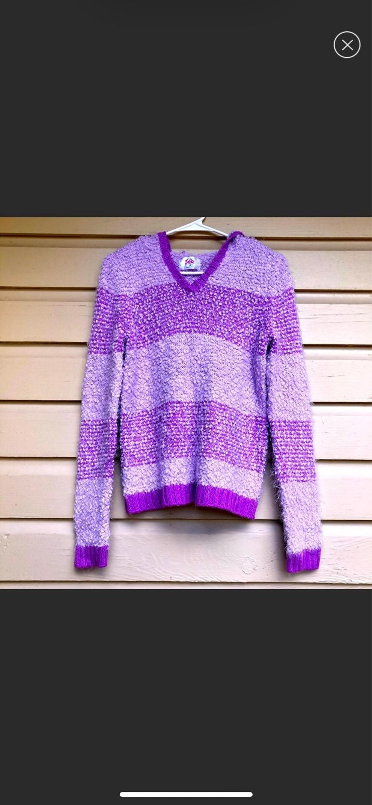 Justice Girls Teddy Sweater Pullover 18