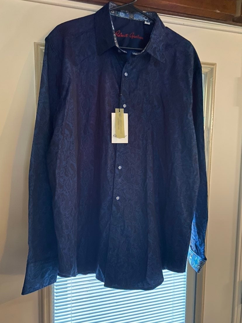 New! Robert Graham 2XL Classic Fit Shirt