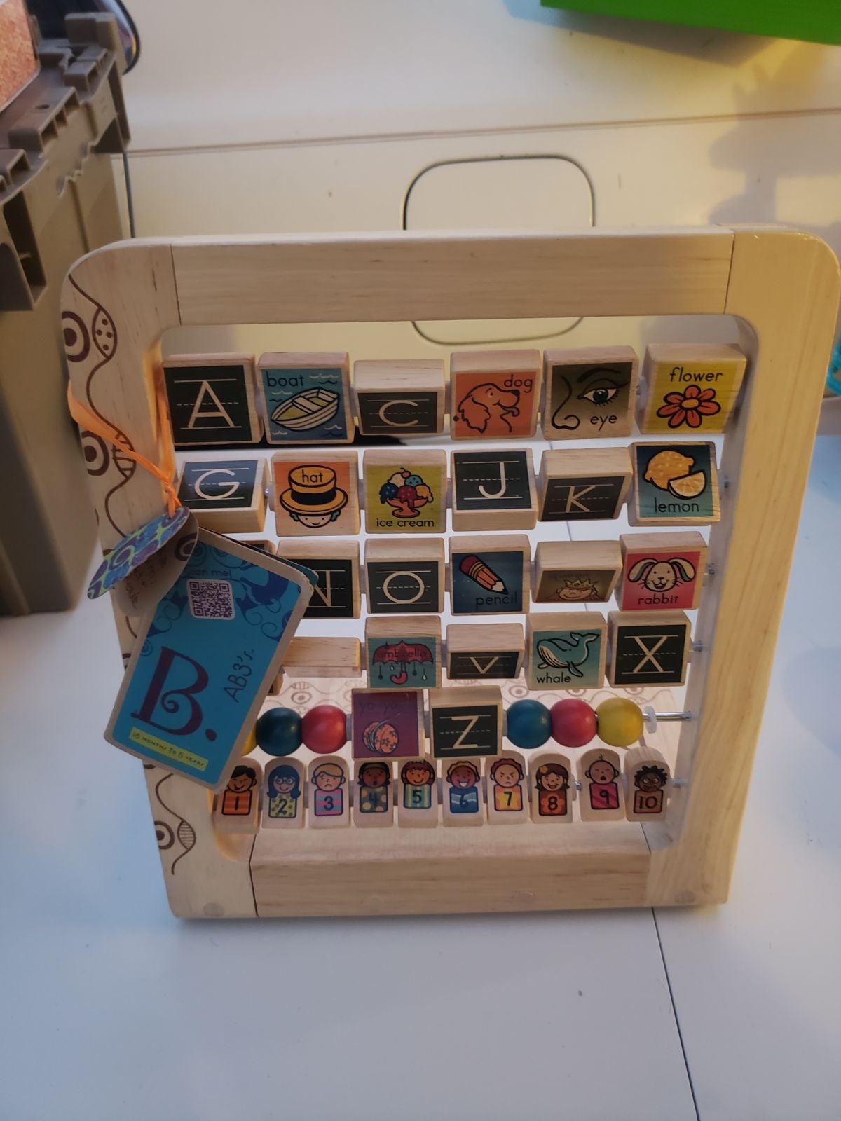 B. Smart Wooden Alphabet Abacus!